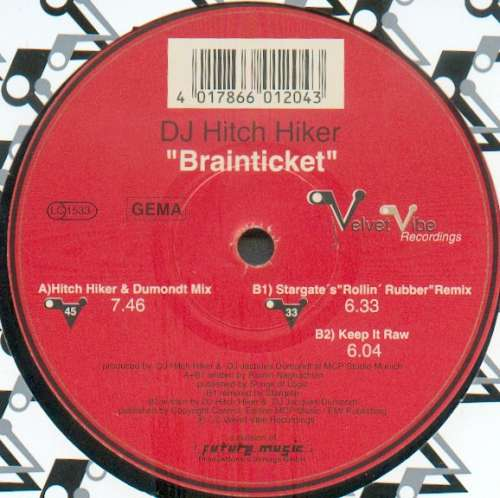 Bild DJ Hitch Hiker - Brainticket (12) Schallplatten Ankauf