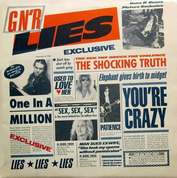 Cover Guns N' Roses - G N' R Lies (LP, Album) Schallplatten Ankauf
