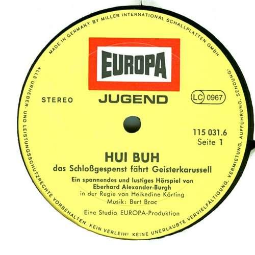 Cover zu Eberhard Alexander-Burgh / Hans Clarin - Hui Buh Das Schloßgespenst  6 - Fährt Geisterkarussell (LP) Schallplatten Ankauf