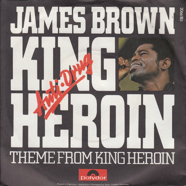 Cover James Brown - King Heroin / Theme From King Heroin (7, Single) Schallplatten Ankauf