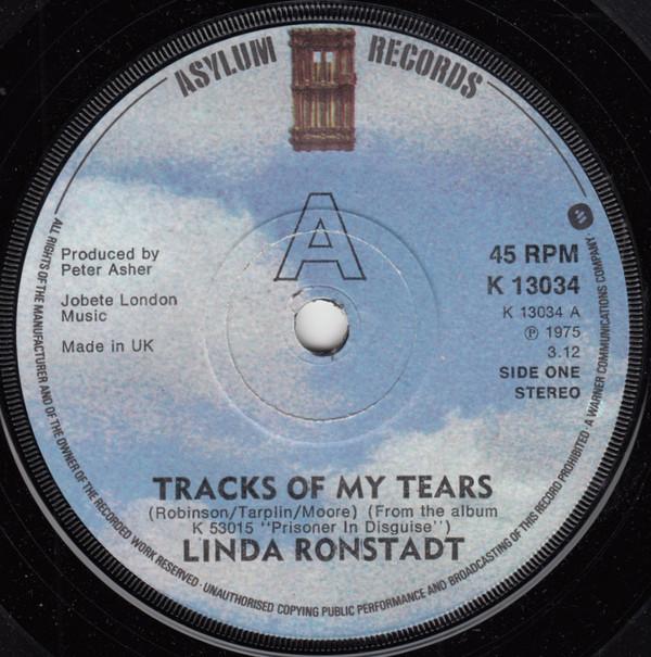 Bild Linda Ronstadt - Tracks Of My Tears (7, Single, Sol) Schallplatten Ankauf