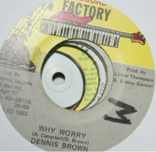 Bild Dennis Brown - Why Worry (7) Schallplatten Ankauf