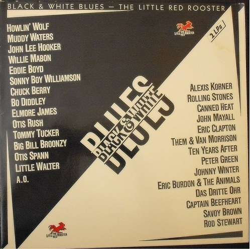 Cover zu Various - Black & White Blues - The Little Red Rooster (2xLP, Comp) Schallplatten Ankauf