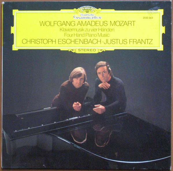 Cover zu Wolfgang Amadeus Mozart - Christoph Eschenbach, Justus Frantz - Klaviermusik Zu Vier Händen = Four Hand Piano Music (LP) Schallplatten Ankauf