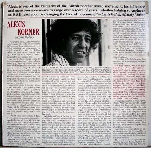 Bild Alexis Korner - Get Off Of My Cloud (LP) Schallplatten Ankauf