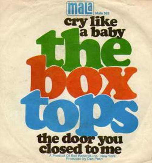 Cover zu The Box Tops* - Cry Like A Baby / The Door You Closed To Me (7, Single) Schallplatten Ankauf