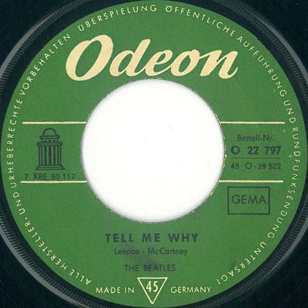 Cover The Beatles - Tell Me Why (7, Single) Schallplatten Ankauf