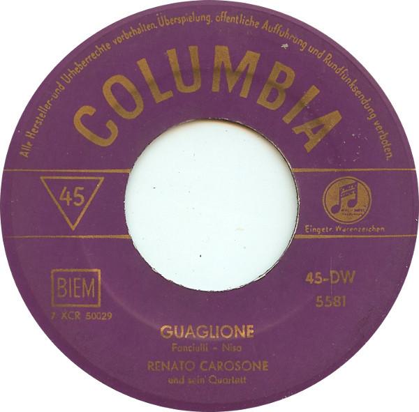 Bild Renato Carosone Und Sein Quartett* - Guaglione (7, Single) Schallplatten Ankauf