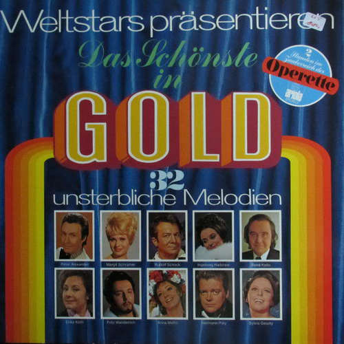 Bild Various - Weltstars Präsentieren Das Schönste In Gold (2xLP, Comp, Gat) Schallplatten Ankauf