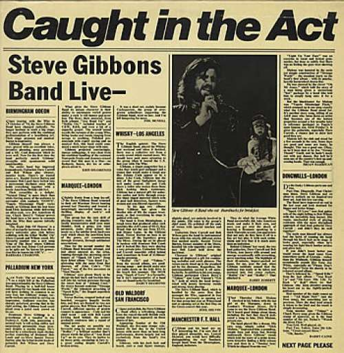 Cover Steve Gibbons Band - Caught In The Act (LP, Album) Schallplatten Ankauf