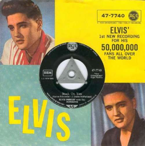 Cover Elvis Presley With The Jordanaires - Stuck On You / Fame And Fortune (7, Single) Schallplatten Ankauf