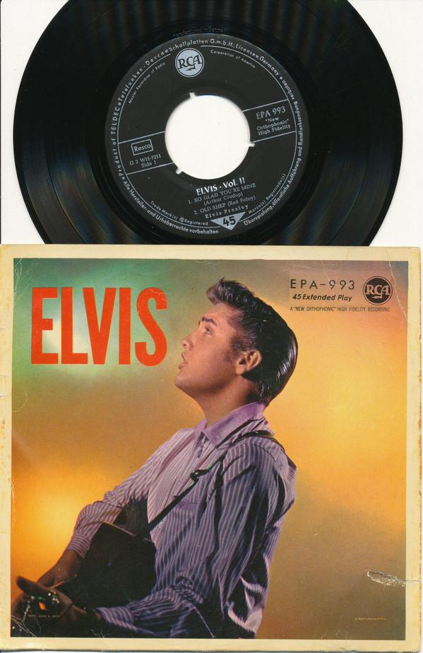 Cover Elvis Presley - Volume II (7, EP, RP) Schallplatten Ankauf