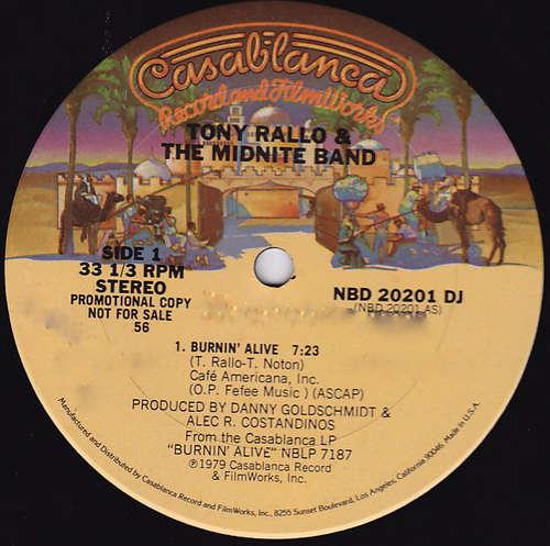 Bild Tony Rallo & The Midnite Band - Burnin' Alive (12, S/Sided, Promo) Schallplatten Ankauf