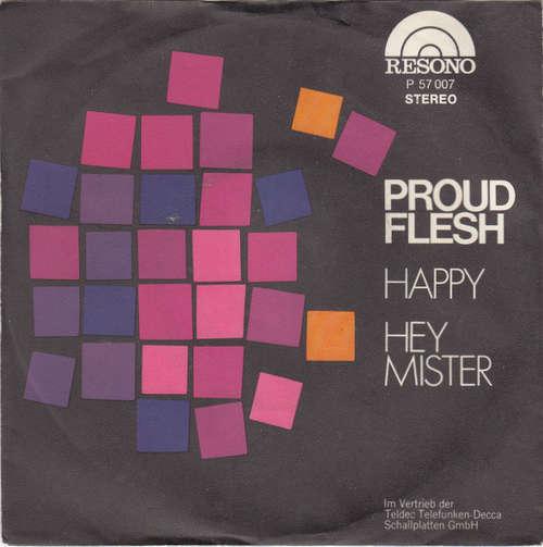 Cover Proud Flesh - Happy (7, Single) Schallplatten Ankauf