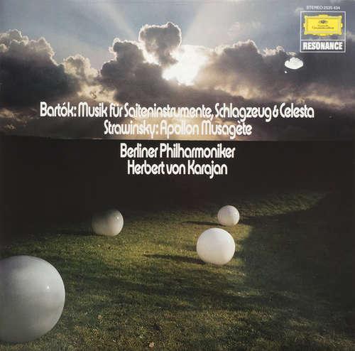 Cover Bartók* / Stravinsky* - Berliner Philharmoniker - Herbert Von Karajan - Musik Für Saiteninstrumente, Schlagzeug & Celesta / Apollon Musagète (LP, Album, RE) Schallplatten Ankauf