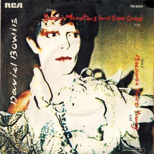 Cover David Bowie - Scary Monsters (And Super Creeps) / Because You're Young (7, Single) Schallplatten Ankauf