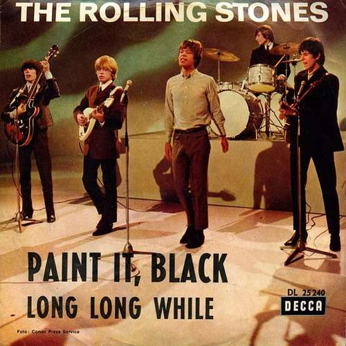 Cover The Rolling Stones - Paint It, Black (7, Single, Mono) Schallplatten Ankauf