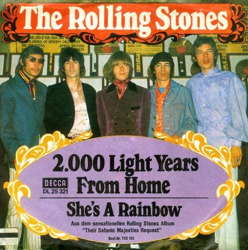 Cover zu The Rolling Stones - 2000 Light Years From Home (7, Single) Schallplatten Ankauf