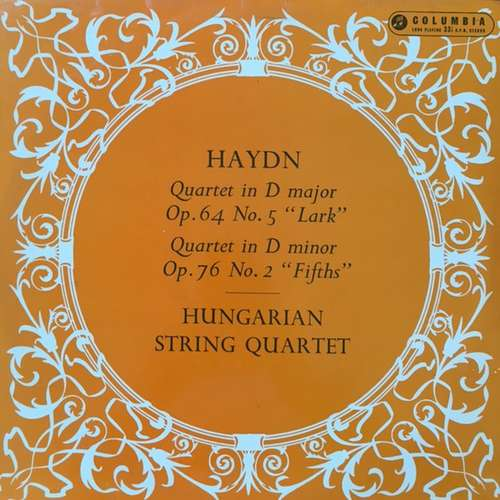 Bild Haydn*, Hungarian String Quartet* - Quartet In D Major, Op.64 No.5 Lark - Quartet In D Minor Op.76 No.2 Fifths (LP, Album) Schallplatten Ankauf