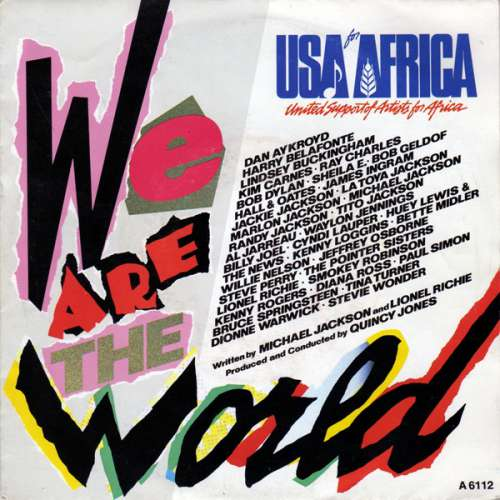 Cover USA For Africa - We Are The World (7, Single) Schallplatten Ankauf