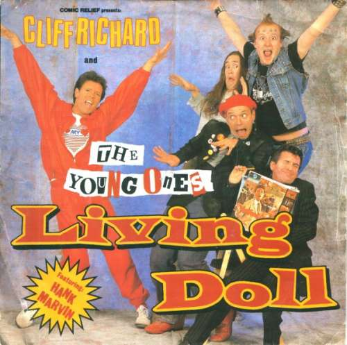 Cover zu Cliff Richard And The Young Ones Featuring Hank Marvin - Living Doll (7, Single) Schallplatten Ankauf