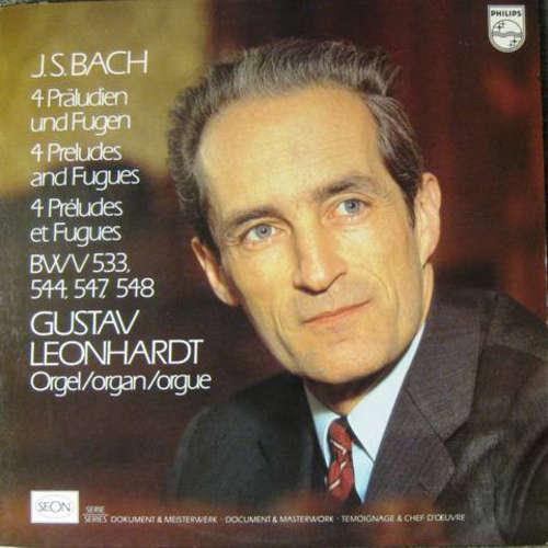 Bild J. S. Bach* - Gustav Leonhardt - 4 Preludes And Fugues (LP) Schallplatten Ankauf