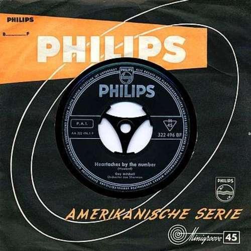 Bild Guy Mitchell - Heartaches By The Number (7, Single) Schallplatten Ankauf