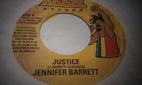 Cover zu Jennifer Barrett - Justice (7) Schallplatten Ankauf
