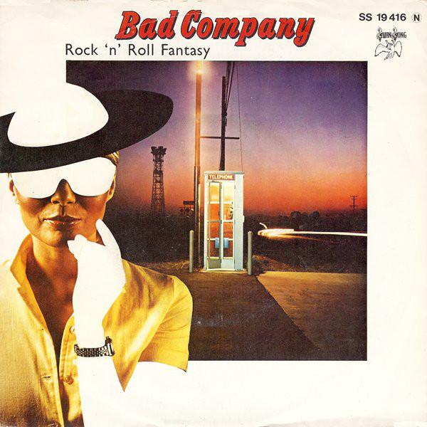Cover zu Bad Company (3) - Rock 'n' Roll Fantasy (7, Single) Schallplatten Ankauf