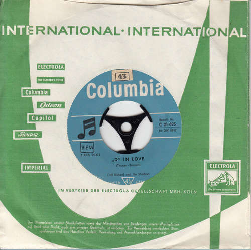 Cover Cliff Richard And The Shadows* - I Love You  (7, Single) Schallplatten Ankauf