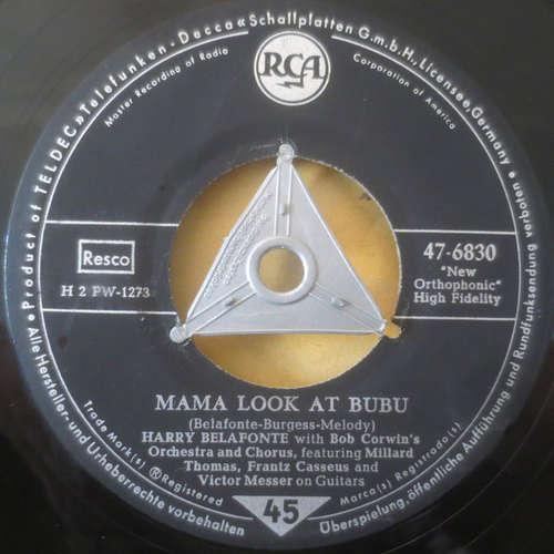 Bild Harry Belafonte With Bob Corman's Orchestra And Chorus - Mama Look At Bubu / Don't Ever Love Me (7, Single) Schallplatten Ankauf