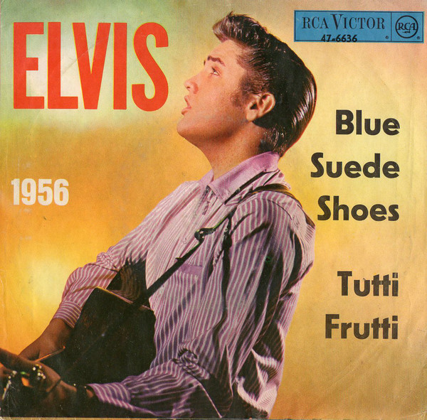 Cover Elvis Presley - Tutti Frutti / Blue Suede Shoes (7, Single) Schallplatten Ankauf