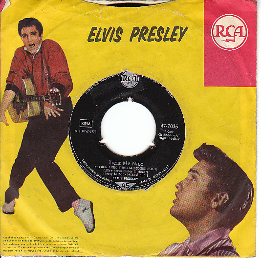 Cover Elvis Presley - Jailhouse Rock (7, Single, RP, s5 ) Schallplatten Ankauf