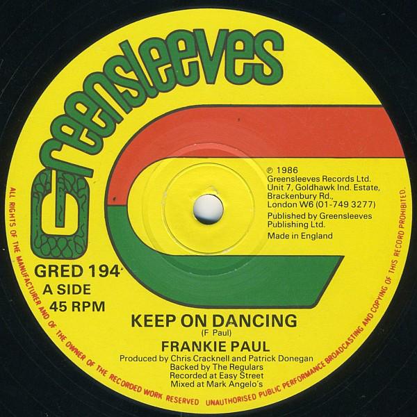 Cover Frankie Paul - Keep On Dancing (12) Schallplatten Ankauf