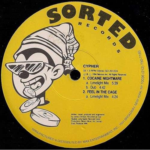 Cover zu Cypher (5) - Cocaine Nightmare (12) Schallplatten Ankauf