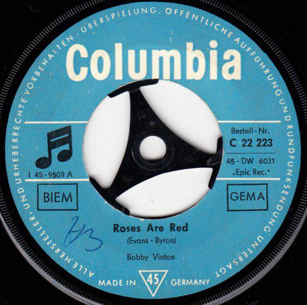 Cover Bobby Vinton - Roses Are Red (7, Single) Schallplatten Ankauf