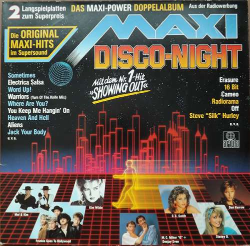 Cover Various - Maxi Disco Night (2xLP, Comp) Schallplatten Ankauf