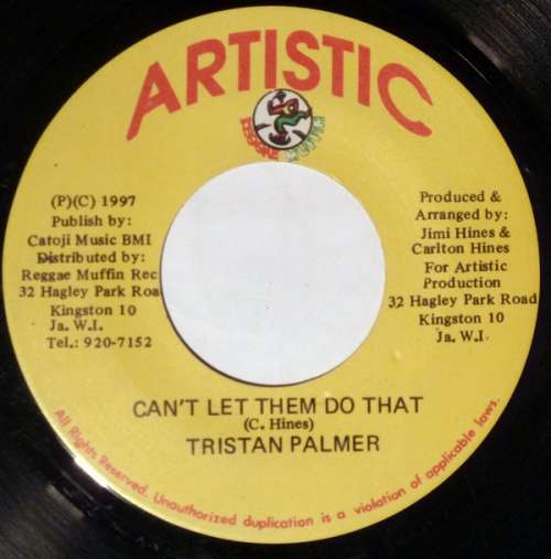 Cover zu Tristan Palmer - Can't Let Them Do That (7) Schallplatten Ankauf