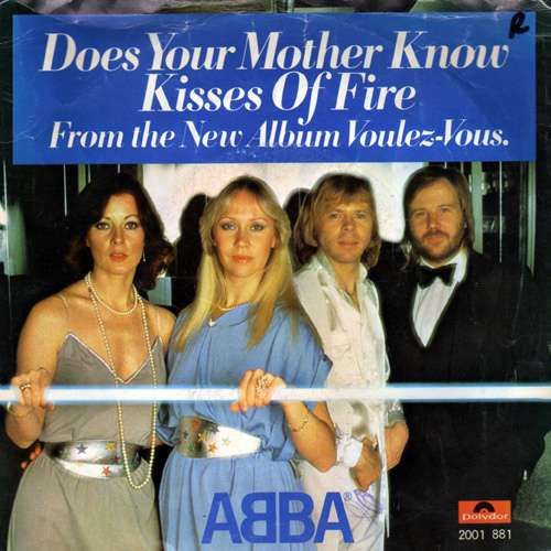 Cover zu ABBA - Does Your Mother Know / Kisses Of Fire (7, Single) Schallplatten Ankauf