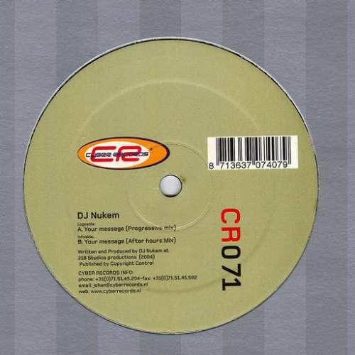 Bild DJ Nukem - Your Message (12) Schallplatten Ankauf