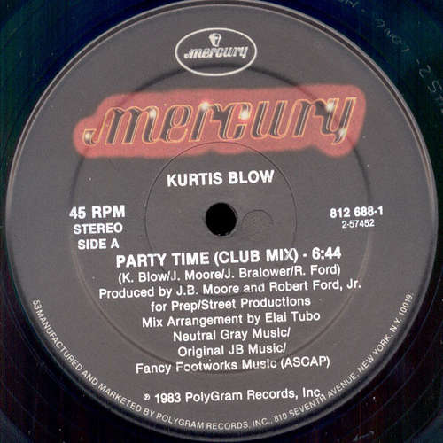 Cover Kurtis Blow - Party Time (12) Schallplatten Ankauf