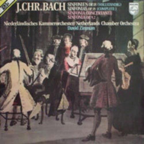 Cover J. Chr. Bach* - Niederländisches Kammerorchester*, David Zinman - Sinfonien Op. 18 (Vollständig) / Sinfonia Concertante / Sinfonia Op. 9,2 (2xLP) Schallplatten Ankauf