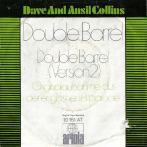 Cover zu Dave And Ansil Collins* - Double Barrel (7, Single) Schallplatten Ankauf