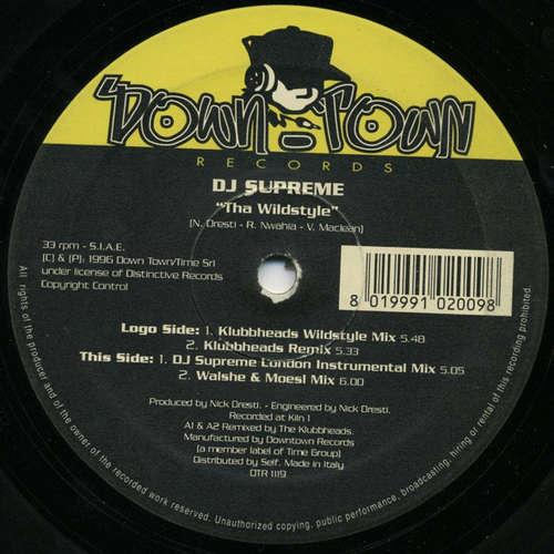 Cover zu DJ Supreme - Tha Wildstyle (12) Schallplatten Ankauf
