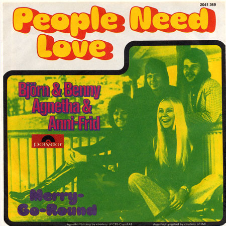 Cover zu Björn & Benny, Agnetha & Anni-Frid - People Need Love (7, Single) Schallplatten Ankauf