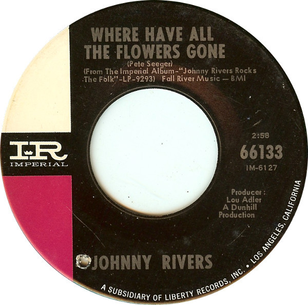 Bild Johnny Rivers - Where Have All The Flowers Gone / Love Me While You Can (7, Single) Schallplatten Ankauf