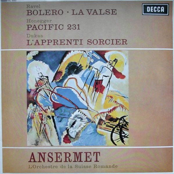 Cover zu Ravel*, Honegger* & Dukas* / Ansermet*, L'Orchestre De La Suisse Romande - Works By Ravel, Honegger & Dukas (LP, RE, 180) Schallplatten Ankauf