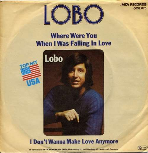 Cover zu Lobo (3) - Where Were You When I Was Falling In Love (7, Single) Schallplatten Ankauf