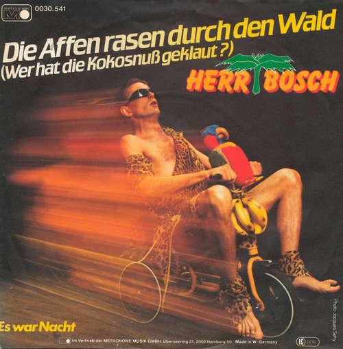 Cover Herr Bosch - Die Affen Rasen Durch Den Wald (7, Single) Schallplatten Ankauf