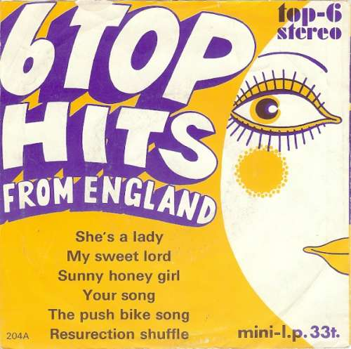 Bild Various - 6 Top Hits From England (7, MiniAlbum, (Mi) Schallplatten Ankauf